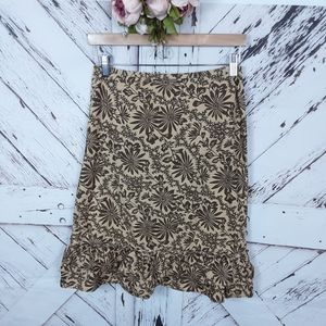 Old Navy Floral Ruffled Skirt sz 4